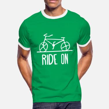 Ride Fixie ride on bike fixie bike cycling cycle bike - Men's Ringer Shirt