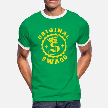 Swaggance Swaggance King - Men's Ringer T-Shirt