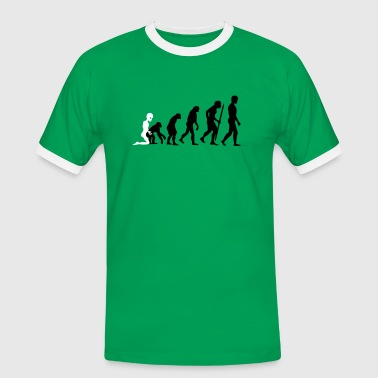 Fuck Ape Alien - Human Evolution V2 - Men's Ringer Shirt