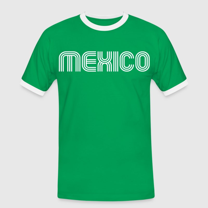 mexico 70er Schrift Lounge  - Men's Ringer Shirt