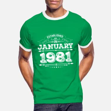 January Established in January 1981 - Men's Ringer T-Shirt