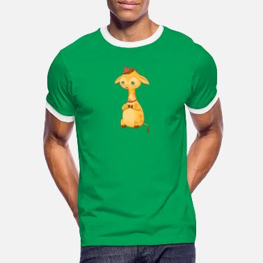 Happy giraffe - Men's Ringer T-Shirt