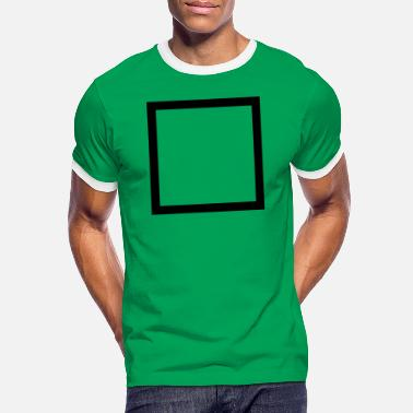 Outline Graphics square outline - Men's Ringer T-Shirt
