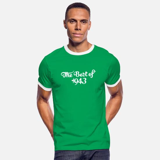 1943 T-Shirts - Geburtstag - Birthday - the best of 1943 (uk) - Men's Ringer T-Shirt kelly green/white