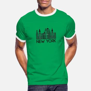 New York Jets New york - T-shirt contrasté Homme