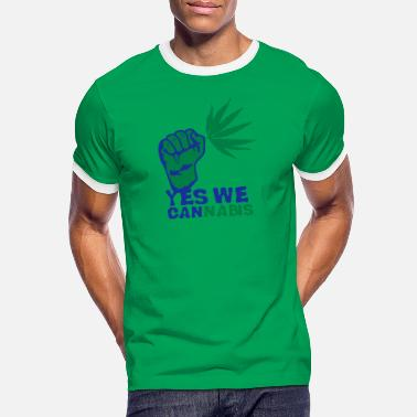 Yes We Cannabis yes we cannabis marijuana poing fermer - T-shirt contrasté Homme