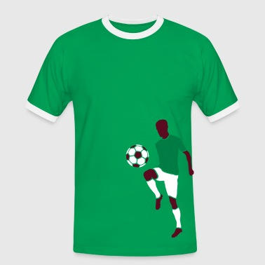 Football player with football - Men's Ringer Shirt