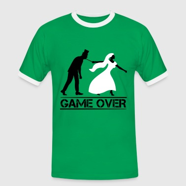 JGA game over Bachelor farewell wedding party - Men's Ringer Shirt
