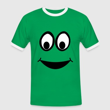 Funny Face, Cartoon Face, Trickfilm, Smiley - T-shirt contrasté Homme