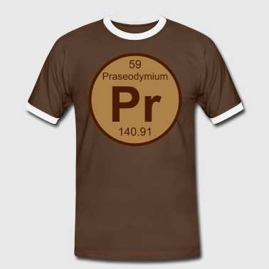 Praseodymium (Pr) (element 59) - Men's Ringer Shirt