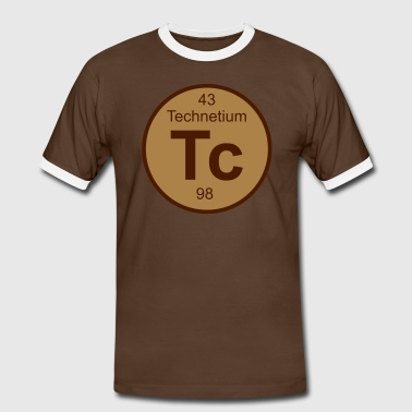 Technetium (Tc) (element 43) - Men's Ringer Shirt