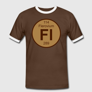 Flerovium (Fl) (element 114) - Men's Ringer Shirt