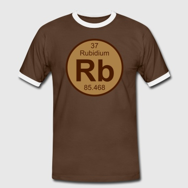 Element 37 - rb (rubidium) - Round (white) - Männer Kontrast-T-Shirt