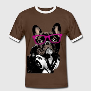 AD Hipster Frenchie - Camiseta contraste hombre