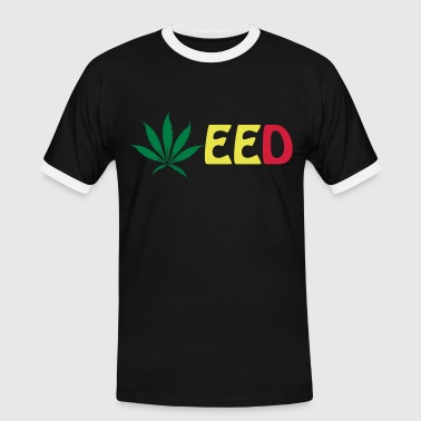 weed - T-shirt contrasté Homme