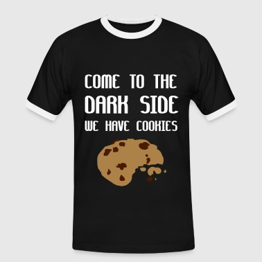 Come To The Dark Side We Have Cookies - Kontrast-T-shirt herr