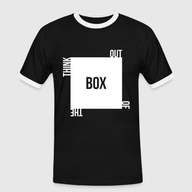 think out of the box kreativ unkonventilell anders - Camiseta contraste hombre