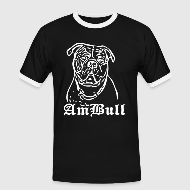 bulldog - www.dog-power.nl - Mannen contrastshirt