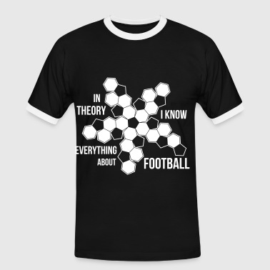 Football dark shirt - Herre kontrast-T-shirt