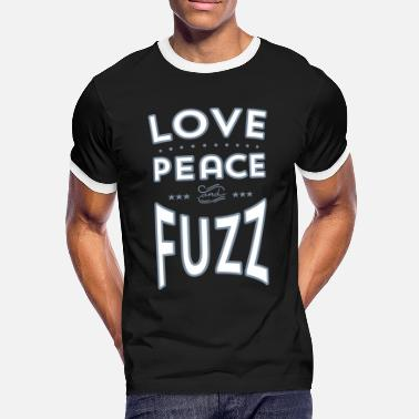 Pedal Love_Peace_and_Fuzz.eps - Männer Ringer T-Shirt