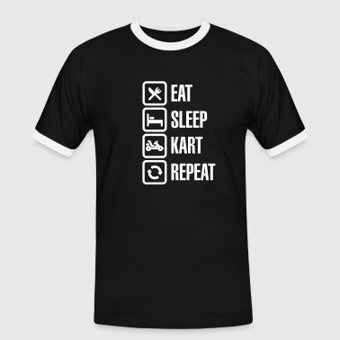 Eat sleep kart karting go-karts repeat - Men's Ringer Shirt