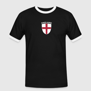 St George Cross ENGLAND SHIELD - Men's Ringer Shirt
