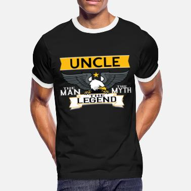 Uncle The Man The Myth The Legend UNCLE THE MAN THE MYTH THE LEGEND - Men's Ringer Shirt