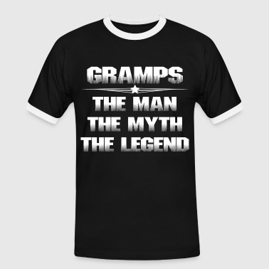 GRAMPS THE MAN THE MYTH THE LEGEND - Men's Ringer Shirt