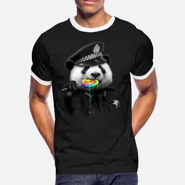Cop LOLLYPOP COP - Men's Ringer T-Shirt