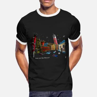 Venice Art T-shirt Design Venice Italy - Children Fantasy Illustration - Men's Ringer Shirt