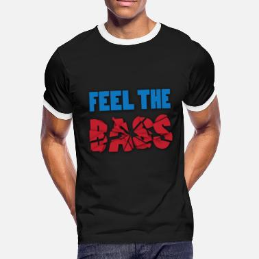 Lauwe Feel the bass - Mannen contrastshirt