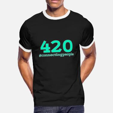 Nikotin 420 - #connectingpeople - Kontrast T-shirt mænd