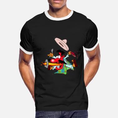 Chiles Mexicano Caliente comida mexicana sombrero mexicano niños chile -  Camiseta contraste hombre d616818fccf