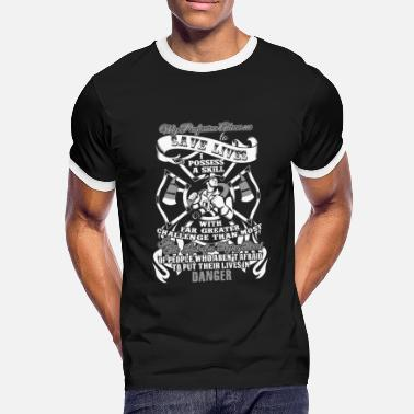 Rescue Rescue Fire Department Firefighter Firefighter Woman - Men's Ringer T-Shirt