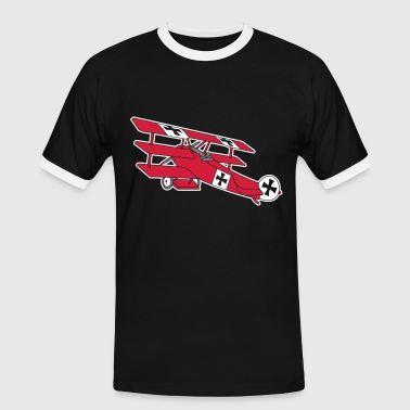 Fokker Roter Baron Red Air Combat First World War  - Mannen contrastshirt