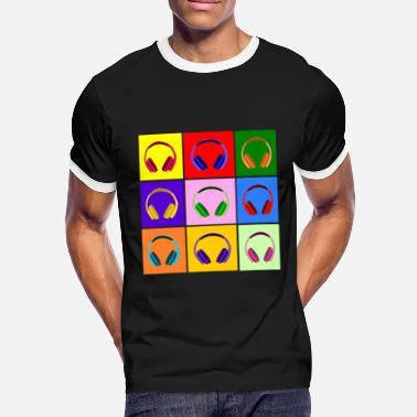 Art Pop Art Kopfhörer, Pop Art Headphones - Mannen contrastshirt