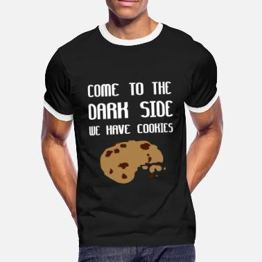 We Come To The Dark Side We Have Cookies - Kontrast-T-shirt herr