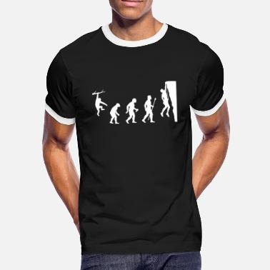 Rock Rock Climbing Evolution Shirt - Men's Ringer T-Shirt