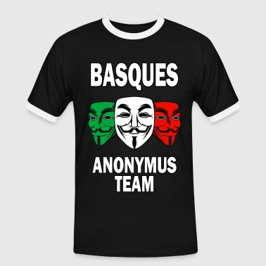 basques anonymus team - T-shirt contrasté Homme