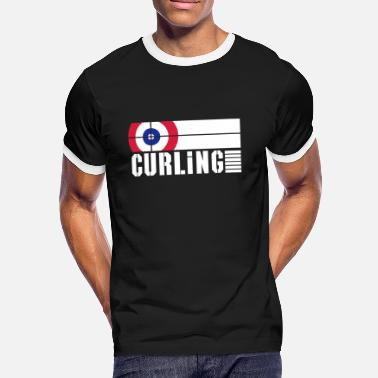 Ice Rink curling rink - Men's Ringer Shirt