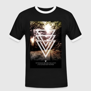 mystic forest triangles - T-shirt contrasté Homme