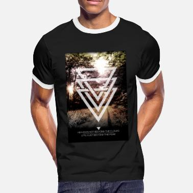 Tomorrowland mystic forest triangles - T-shirt contrasté Homme