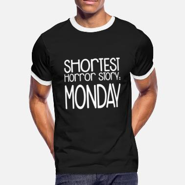 Horror Shortest Horror Story: Monday - Männer Kontrast-T-Shirt