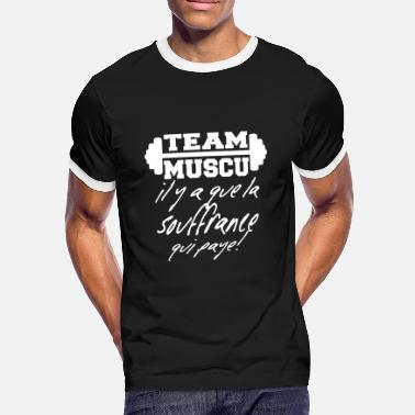 Message Sur Le Sport team muscu,musculation,sport,citations,message - T-shirt contrasté Homme