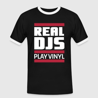 Turntable real DJ play vinyl Schallplatte Club turntables - T-shirt contrasté Homme