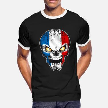 Patriotique Skull France - T-shirt contrasté Homme