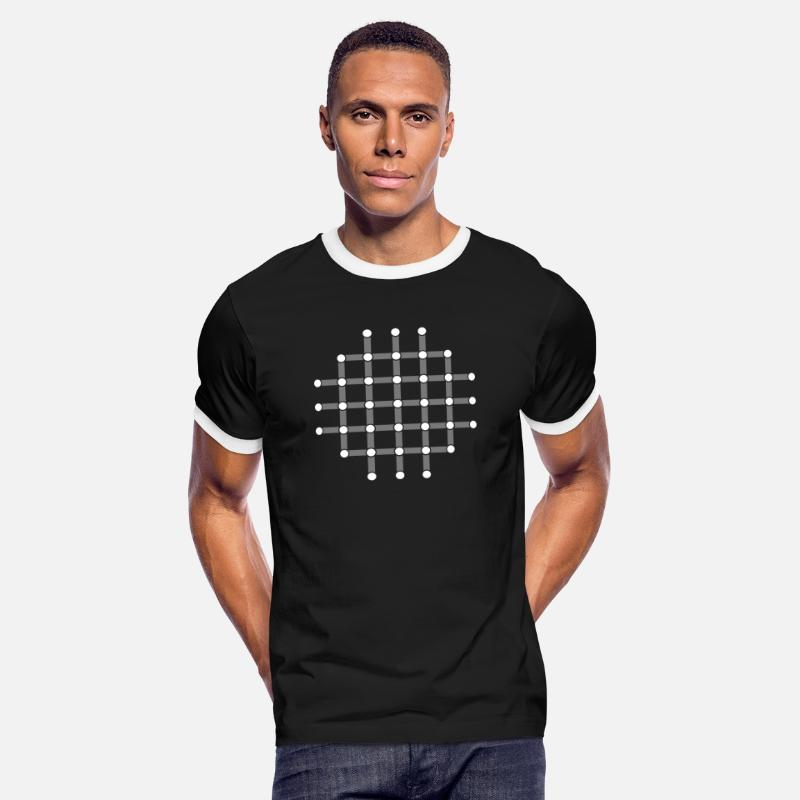 Illusion T-shirts - Illusion d'optique, Trouver le point noir! - T-shirt contrasté Homme noir/blanc