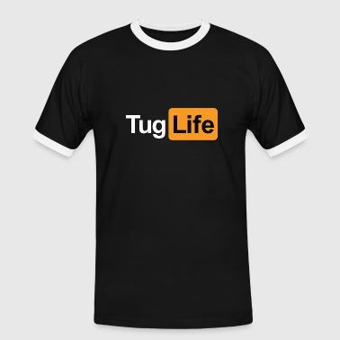 Innuendo Tug Life - Porn Addict - Men's Ringer Shirt