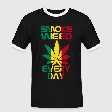 smoke weed every day reggae - T-shirt contrasté Homme