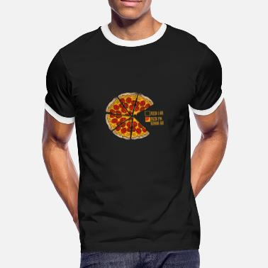 Pizza Funny Pizza funny pizza gift - Men's Ringer T-Shirt